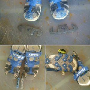 punteras adhesivo sandalias