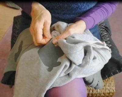 coser rodillera
